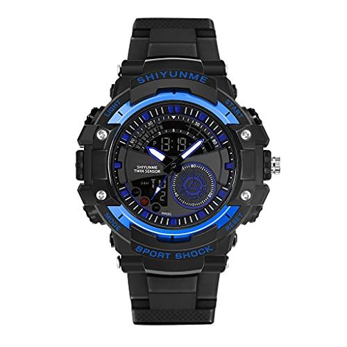 LEXIANG Reloj para Hombre Pantalla Digital analógica Impermeable Deportes Militares Multifuncional Cronómetro Reloj de Pulsera Retroiluminación Luminosa