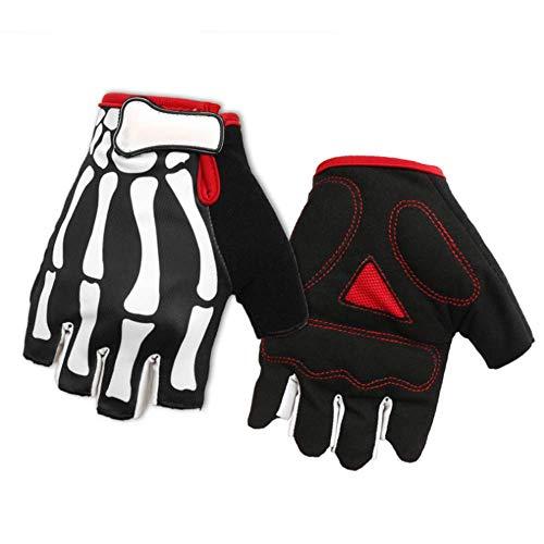 YGD Halfvinger-handschoenen mountainbike klauwen Gespenster fietshandschoenen sporthandschoenen rijuitrusting