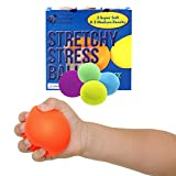 Stretchy Stress Balls for Kids & Adults! Stress Ball Set with 3 Super