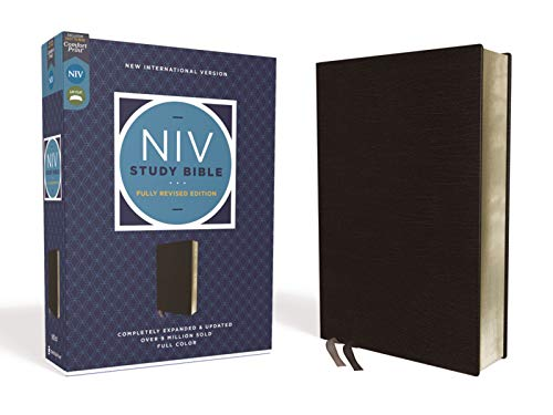Holy Bible: New International Version, Study Bible, Black, Bonded Leather, Red Letter, Comfort Printの詳細を見る