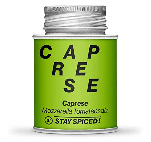 STAY SPICED ! Caprese - Mozzarella Tomaten-Gewürz-Salz   Verpackt in 170 ml Schraubdose