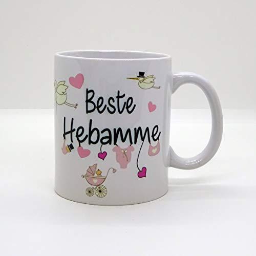 Kaffeebecher ~ Tasse -Beste Hebamme -Mädchen~ Weihnachten Geburt Baby Geschenk