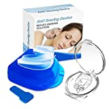 Snoring Solution Devices, Magnetic Anti Snore Nose Clip Relieve Snore Stopper Guard Prevent Bruxism for Men/Women Comfortable Sleep Well White