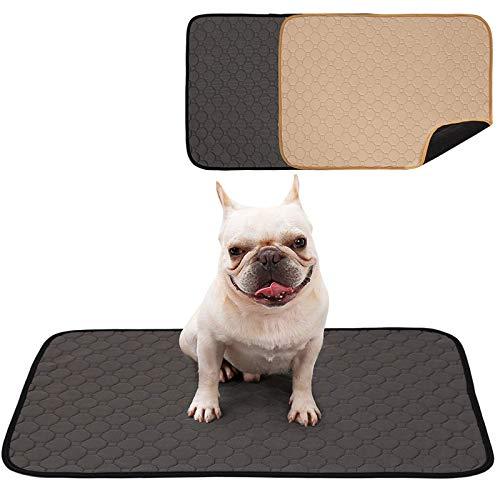 Decdeal Almohadillas para Orina para Perros Absorbentes Impermeables Esteras de Entrenamiento para Mascotas Pañales Reutilizables Lavables para Gatos Cachorros (M -24 * 30 cm)