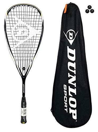 DUNLOP Blackstorm - Raqueta de squash de titanio + 3 bolas de squash