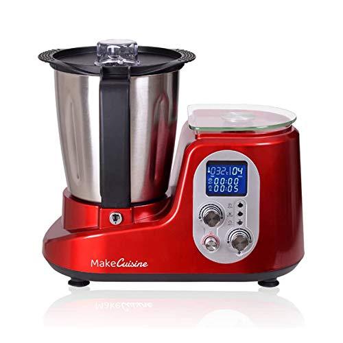 MakeCuisine THERMODREAM MC-THS1 / Robot de Cocina/Multifunción/Báscula electrónica/Vaporera/Roja