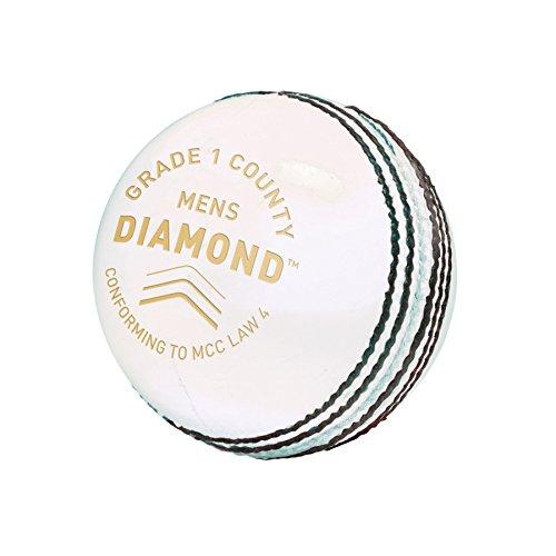 Gm Balle de Cricket pour Homme Diamond Grade 1 Blanc Taille Unique