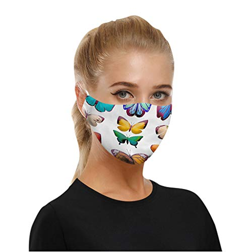 FGDG 5PC Anti-dust Mouth Bandana Delicate Print Bandana Balaclavas, Unisex Adult Reusable Fashion Washable Covering, UK…