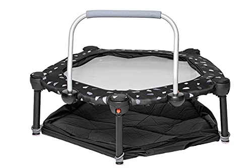 3 in 1 Mini Trampoline and Ball Pit for Kids and Toddlers Includes Safety Bar For Ages 10+ Months