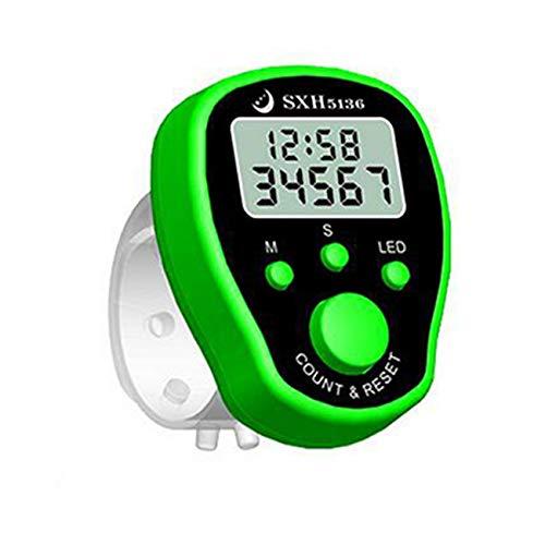 JIUY Cronómetro Deportivo de Mano Digital Cronómetro Cronómetro Reloj Contador de Alarma Temporizador LCD Gran Tiempo de Cocina magnético Alarma de cocción (Verde)
