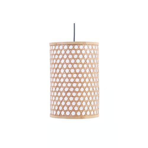 MHCZBGY Lámpara de araña de bambú tejida de bambú de estilo pastoral Lámpara colgante decorativa tejida a mano Pasillo Restaurante Clu Dormitorio Lámpara colgante E27 Tornillo Lámpara de ahorro de ene