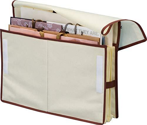 アストロ 紙袋収納ケース A4サイズ 八つ切画用紙対応 ベージュ ショップ袋 ストッカー スリム 606-49