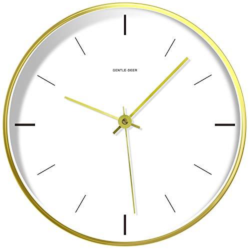 WILNARA Metal Frame Quartz Wall Clock Nordic Style 8inch...