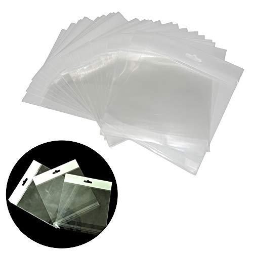 500 Piezas Bolsa de Celofan transparente con agujero para co