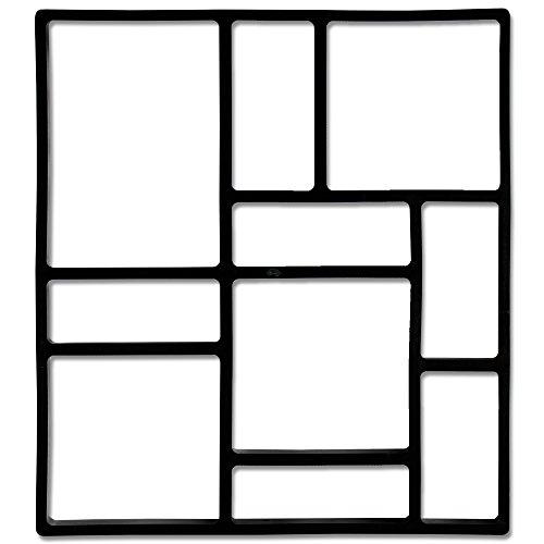 @tec Betonform Pflasterstein Ziegeloptik Mosaikpflaster Ziegelpflaster 45 * 40 * 4cm - Schalungsform Gießform Polypropylen (Kunststoff) - Mosaik-Plaster-Form, Stempelform, Pflaster Stein Gehweg
