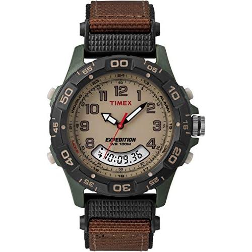 Timex T45181SU Orologio Analogico Digitale da Polso da Uomo, Marrone