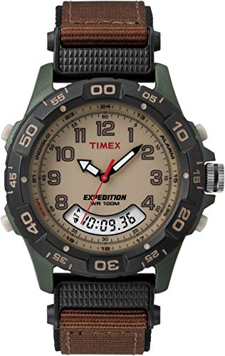 Timex Men's T45181 Expedition Resin Combo Brown/Green Nylon Strap Watch