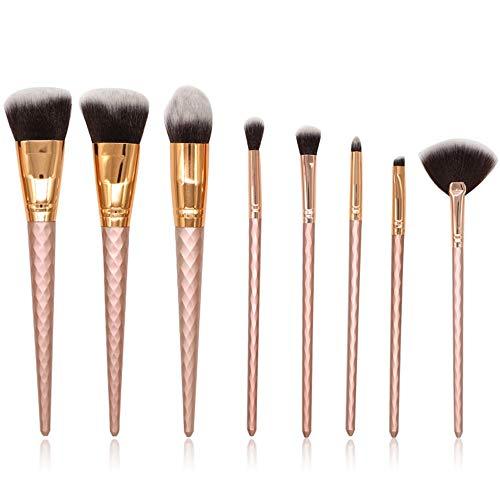 Brosses 8pcs pro maquillage fond de teint poudre fard à paupières fard à paupières crayon à lèvres pinceaux cosmétiques nettoyant liquide Maquillage pour les femmes