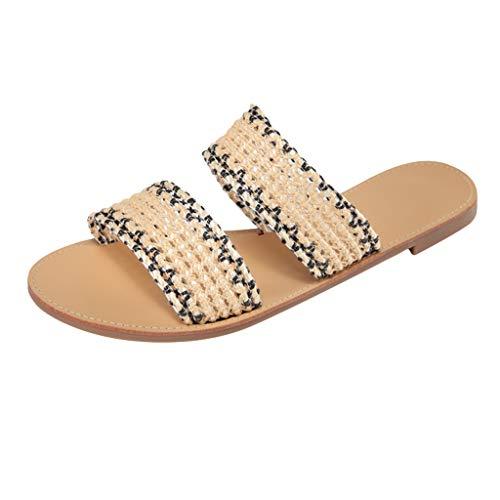 Clogs Hausschuhe Badeschuhe Zehentrenner Pantoletten Sandalen Trekking Sandalen Bade Sandalen Flops Offroad Sneaker Erholungsschuhe Pantoffeln (37,Gelb)