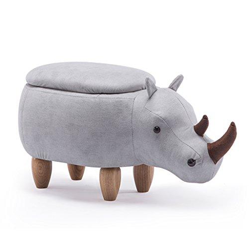 CJH Effen Houten Schoenen Veranderende Krukken Cartoon Rhino Sofa Voetsteun Kinderstoel Zacht en Comfortabel