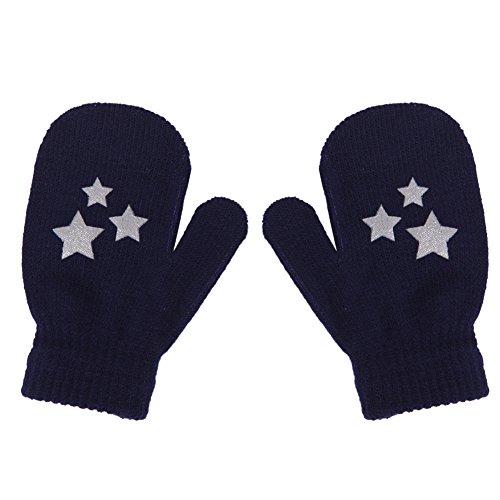 VIccoo Baby Handschoen, Kids Dot Star Hart Patroon Wanten Jongens Meisjes Zachte Breien Warm Handschoenen Mode - 4