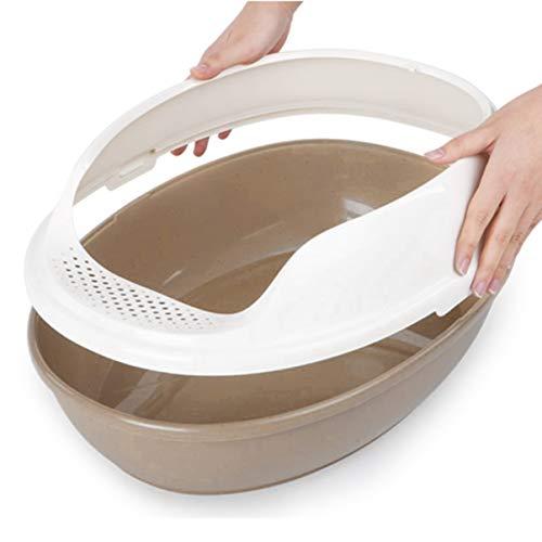 LoveOlvidoD Langlebige Katzentoilette Kunststoff Outdoor Haustier Toilette Tragbare Haustiere Sandbecken Kätzchen Training Bettpfanne Gesundheit liefert Kaffee