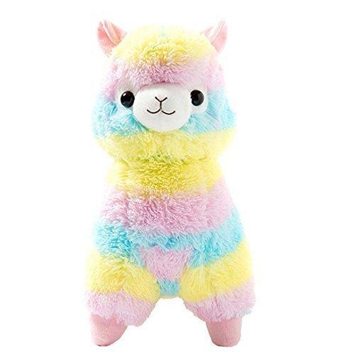 Cuddly Llama Rainbow Alpaca Doll 7' Soft Baby Stuffed Animal Toy Valentine's Day Birthday Xmas Christmas Wedding Anniversary Presents Gifts