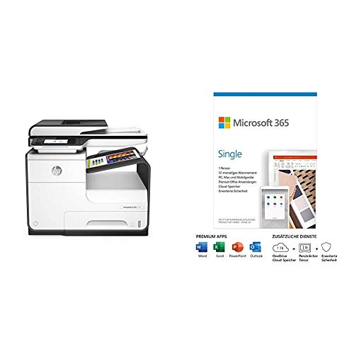 HP PageWide Pro 477dw (D3Q20B) Multifunktionsdrucker (A4, Drucker, Scanner, Kopierer, Microsoft 365 Single   Box