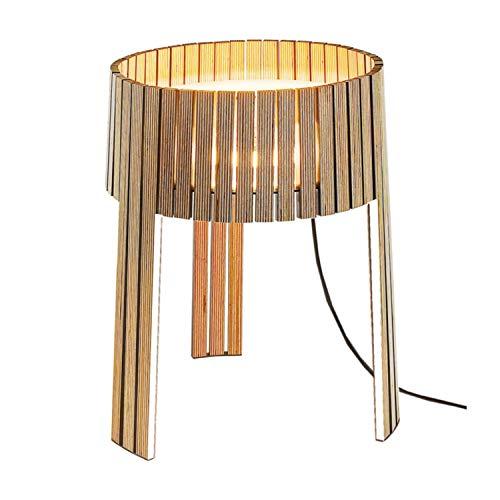 Lámpara de mesa de la colección Shio, color blanco, 34 x 34 x 39 centímetros (referencia: SH02B)