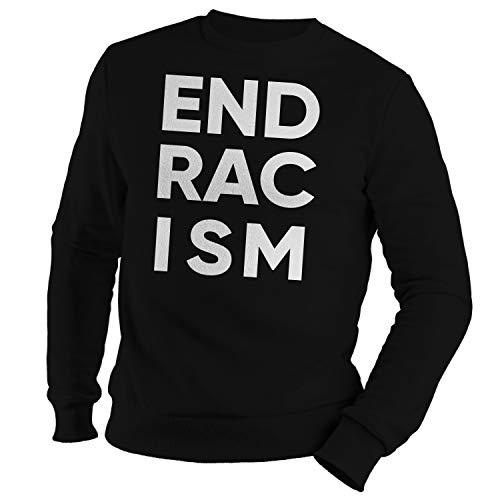 GR8Shop End Racism #BLM Sudadera Negra Unisex Size M