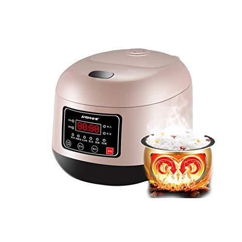 Cuiseur de riz pot ménage 3 litres épaissir mini petit multifonctionnel intelligent 1-2 personnes dortoir cuisson 3-4 (Couleur : Pink)