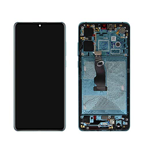 Marco de pantalla táctil de teléfono móvil 6.1 'AMOLED Fit For HUAWEI P30 LCD ELE-L29 ELE-L09 ELE-AL00 LCD TOUCK DIGITERIZADOR FULL Panel digitalizador de pantalla táctil ( Color : Aurora Blue Frame )