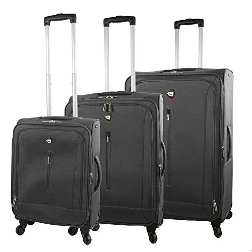 Buy Mia Toro Italy Tena Softside Spinner Luggage 3pc Set, Gray, One Size