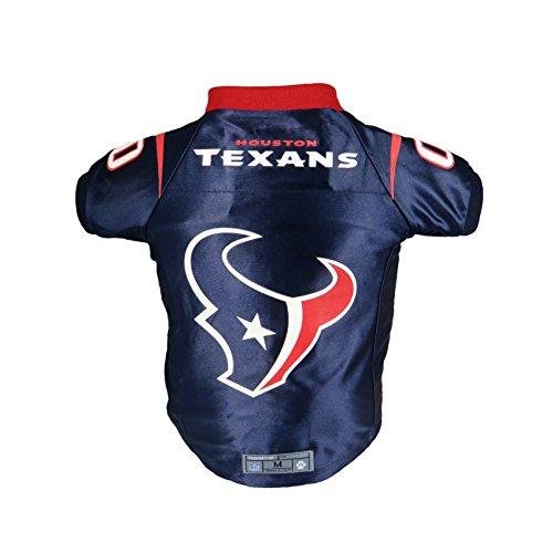 Littlearth NFL Houston Texans Premium Pet Jersey, Large, Team Color (320135-TXNS-L)