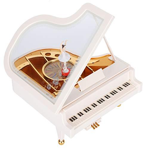 Caja de música para Piano, Caja de música giratoria para niña, Caja de música, decoración del hogar, Adornos artesanales para niñas, Esposa, mamá