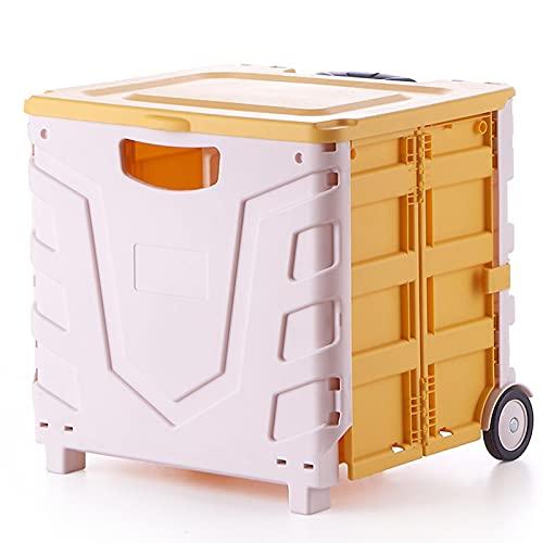 Organizzatore del Bagagliaio Dell'Auto, Scatola di Immagazzinaggio Pieghevole per Auto con Bagagliaio del Bagagliaio del Carrello con Ruote Pieghevole di Grande capacità