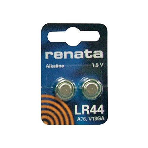 Horlogebatterijen Renata zilveroxide LR44 377 371 315 317 321 361 397 364, 2 stuks