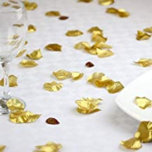 1000 piece Gold Silk Rose Petals Artificial Flower Wedding Decor