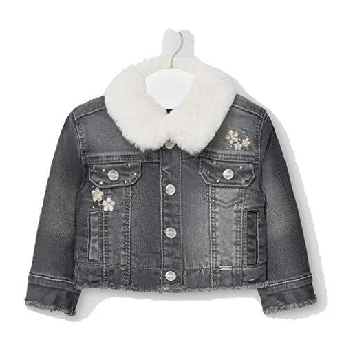 Mayoral 2405 - Giacca in jeans per bebè, da bambina grigio 12 mesi