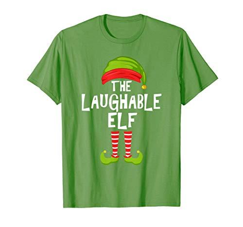 Pijama de la fiesta de Navidad de la familia de los elfos ve Camiseta