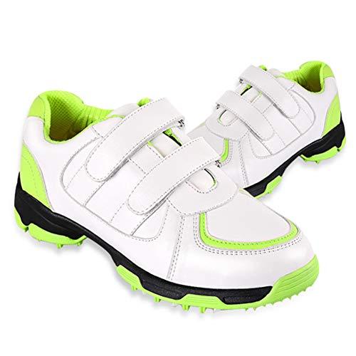 CGBF-Kinder Golf Shoes Jungen Freien Wasserdichten Breathable Anti-Skid Golfschuhe Leichte Turnschuhe Lauf Golfschuh Kinder,Grün,36 EUR/4.5 UK/5.5 USA