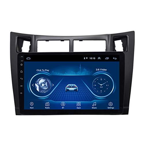 Android 10.0 Radio Stereo Coche Navegación GPS 9 Pulgadas 2.5D HD Pantalla Táctil Ser Aplicable Para Toyota Yaris (2008-2011) Apoyo Cámara De Visión Trasera WIFI FM Mirror Link Manos Libres USB,1G+16G
