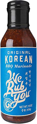 Bulgogi Sauce Kalbi Marinade Original Korean BBQ We Rub You 15 oz (Pack of 6)