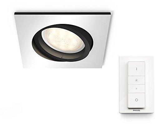 Philips Hue Luminaire télécommandé 2 Spots encastrés MILLISKIN Rond Blanc + Dim...