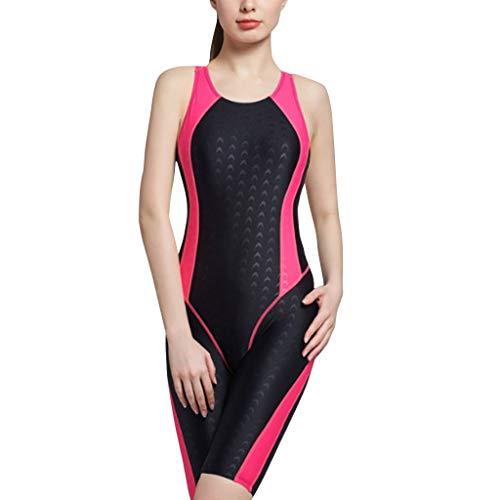 Dames Zwempak Kneeskins Stuk Legsuits Technische Een Moderne Casual Badpak met Boyleg Pads Vrouwen Badpak Mode Strand Badpak
