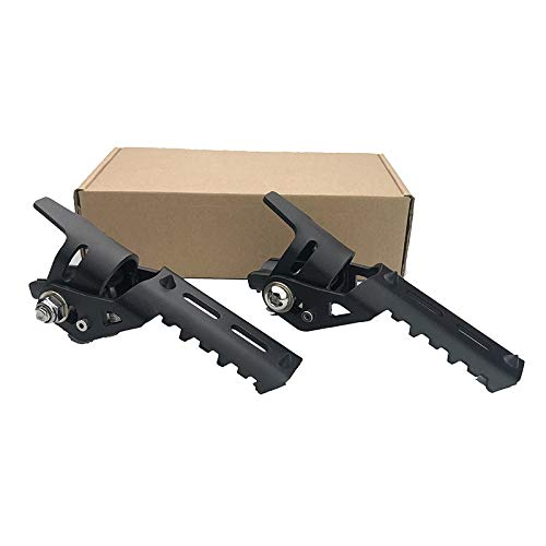 for B-MW R1200GS LC ADV Adventure Pipes Triumph Tiger Explorer Motorcycle Highway Front Foot Pegs Pedals Footrest (Color : Black, Size : 22mm)