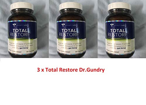 Gundry MD Total Restore Gut Lining Support Blend 90 Capsules Pack of 3