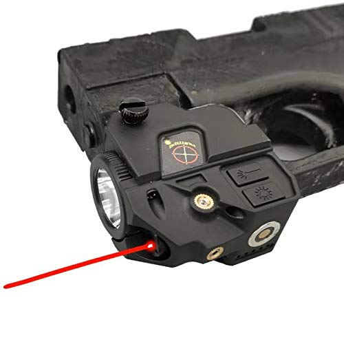 Infilight Tactical Red Flashlight Laser Sight, Compact Red Laser Dot Sight Scope Adjustable Low Profile Picatinny Rail Mount Laser Sight with Rechargeable Battery Pistols & Handguns (CL103R Red Laser)