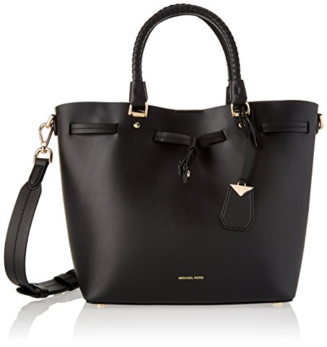 Michael Kors Damen Blakely Md Bucket Bag Schultertasche, Schwarz (Black), 5x10x11.5 centimeters