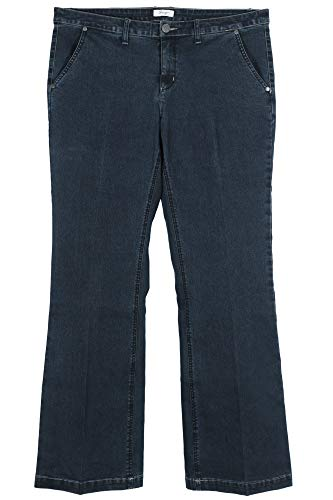 Sheego Damen Jeanshose mit weitem Bein Dark Blue Denim, 54